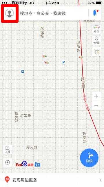 百度地圖首頁
