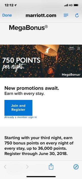 萬豪 2018 Q2 Megabonus